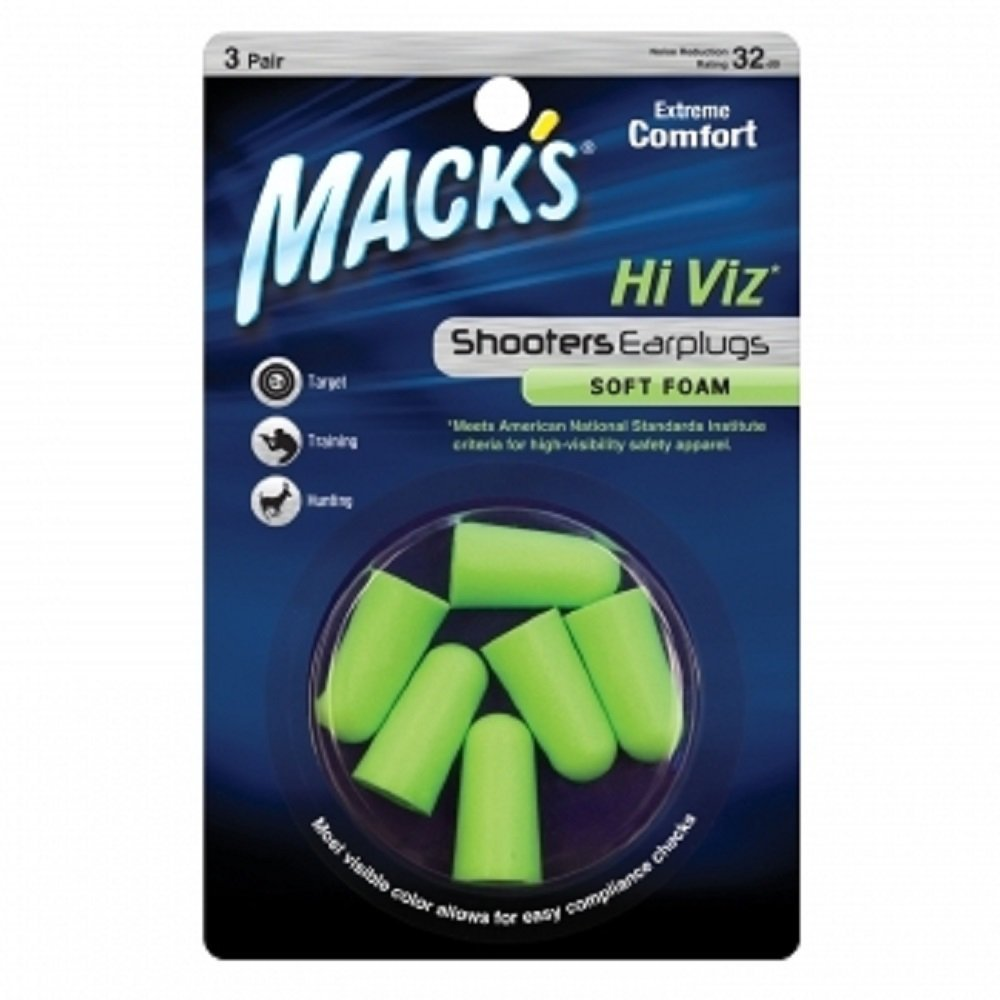 Macks Hi-Viz Soft Foam Earplugs