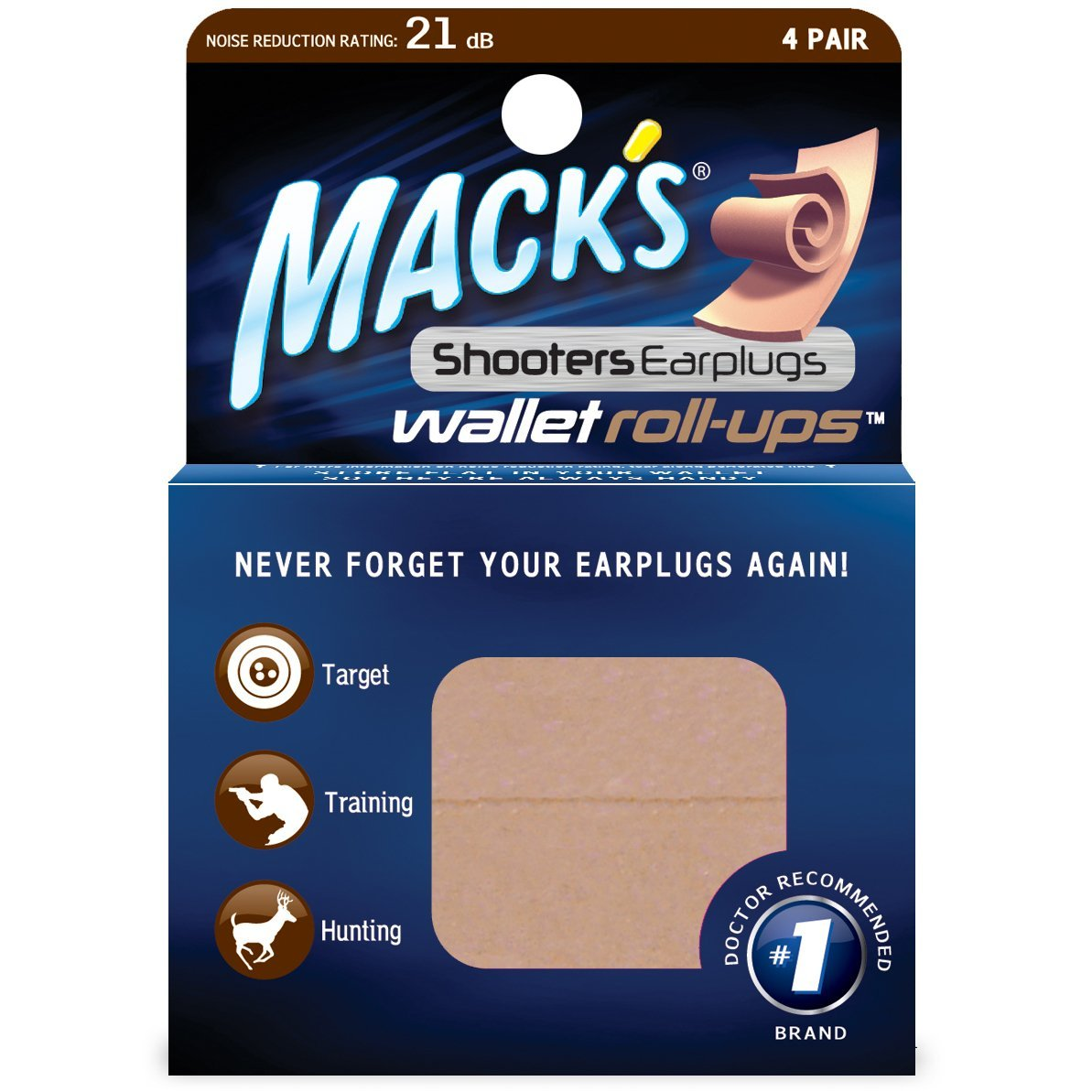 Macks Wallet Roll-Up Hearing Protection