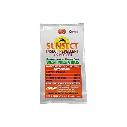 Sunsect Insect Repellent & Sunscreen Foil Packet