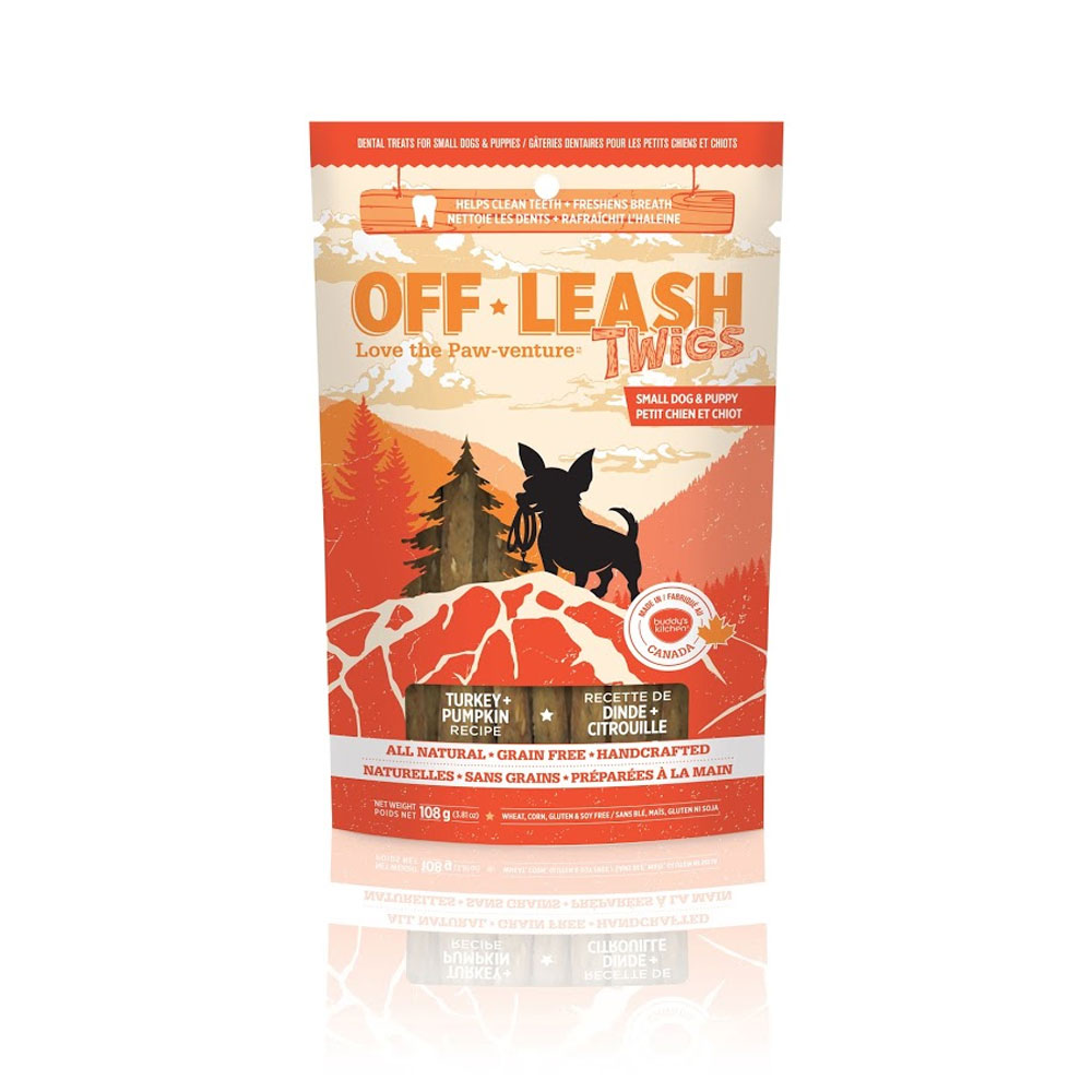 Off-Leash Twigs - Turkey & Pumpkin 3.81 oz