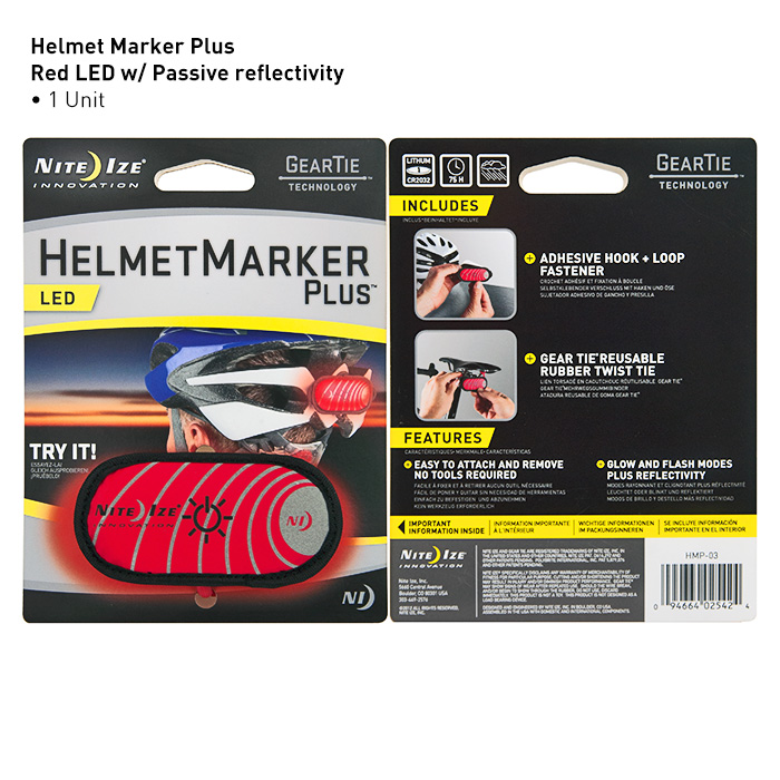Nite Ize- Helmet Marker Plus LED Safety Light