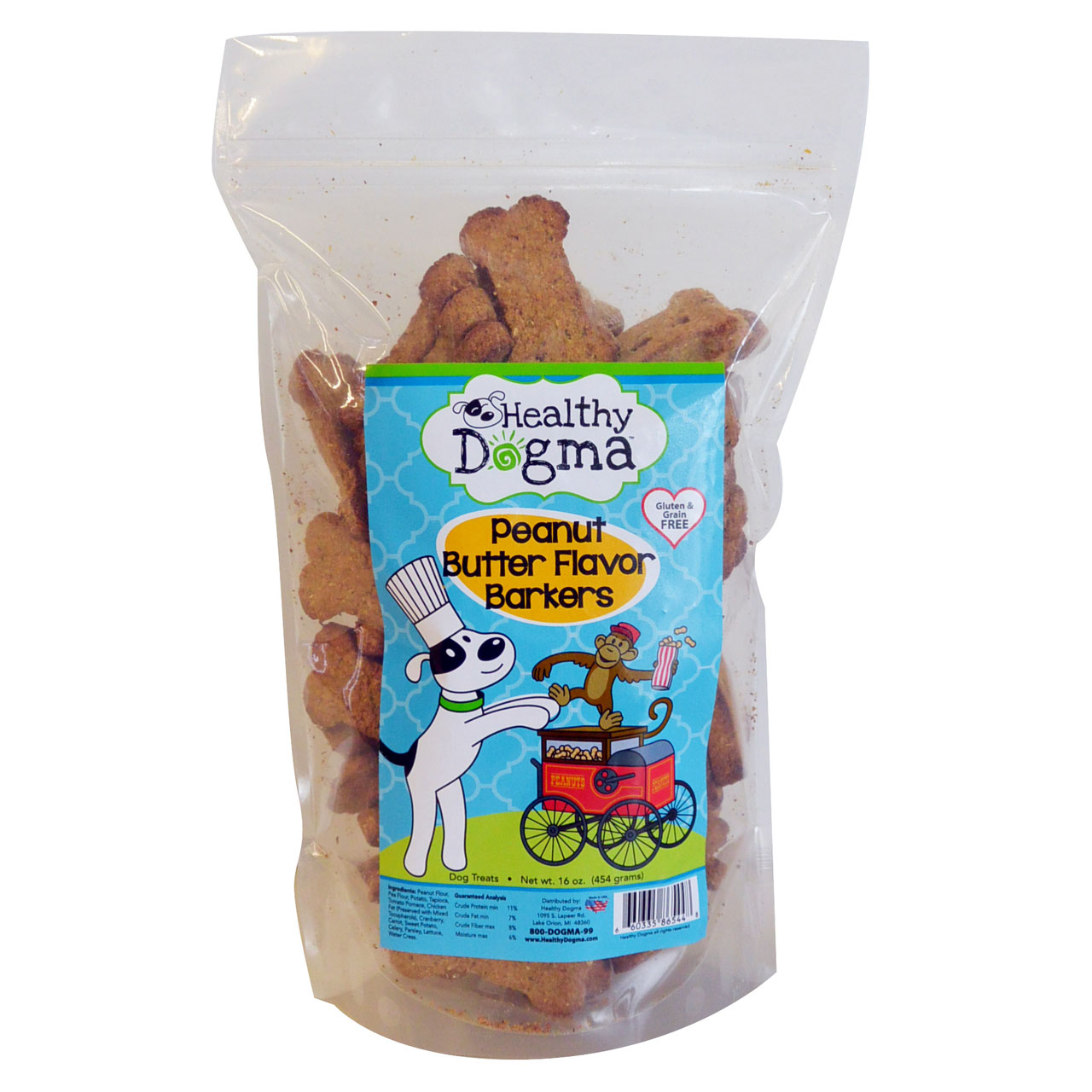 Healthy Dogma Peanut Butter Treats 16 oz. Bag
