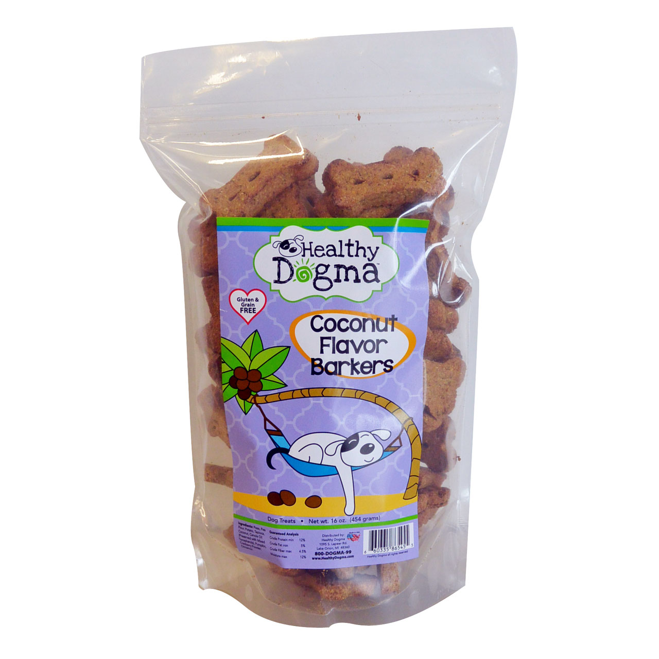 Healthy Dogma Coconut Treats 16 oz. Bag