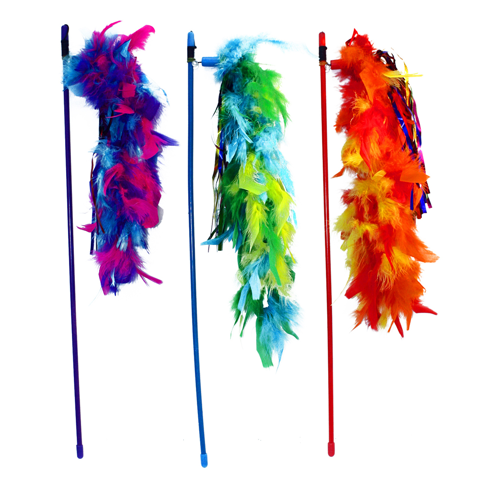 Multipet - Tickle Your Fancy Wand with Feathers