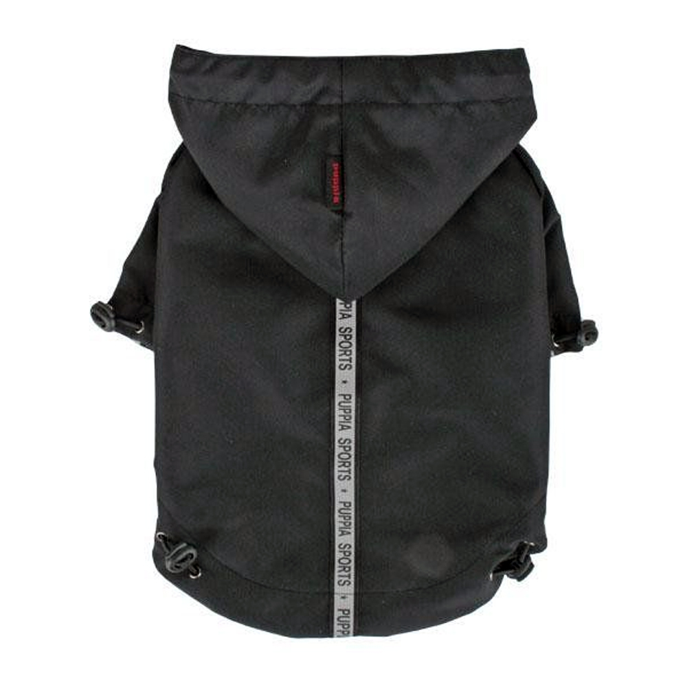 Puppia - Apparel - Base Jumper Raincoat BLACK