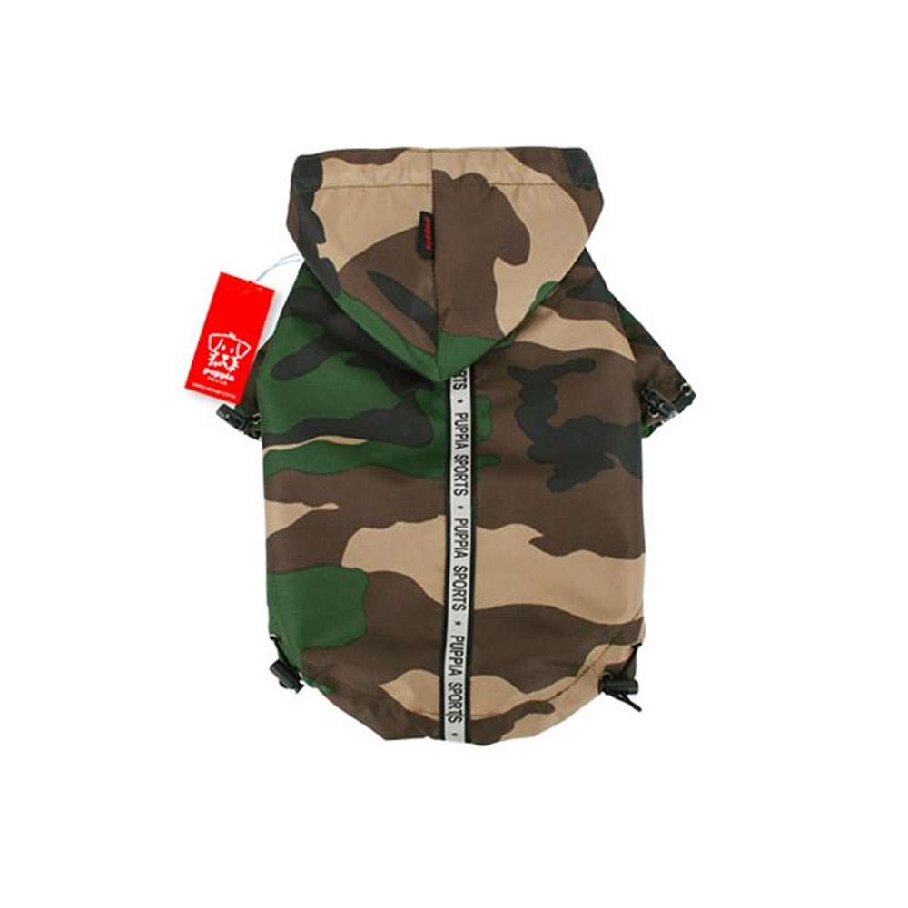 Puppia - Apparel - Base Jumper Raincoat CAMO