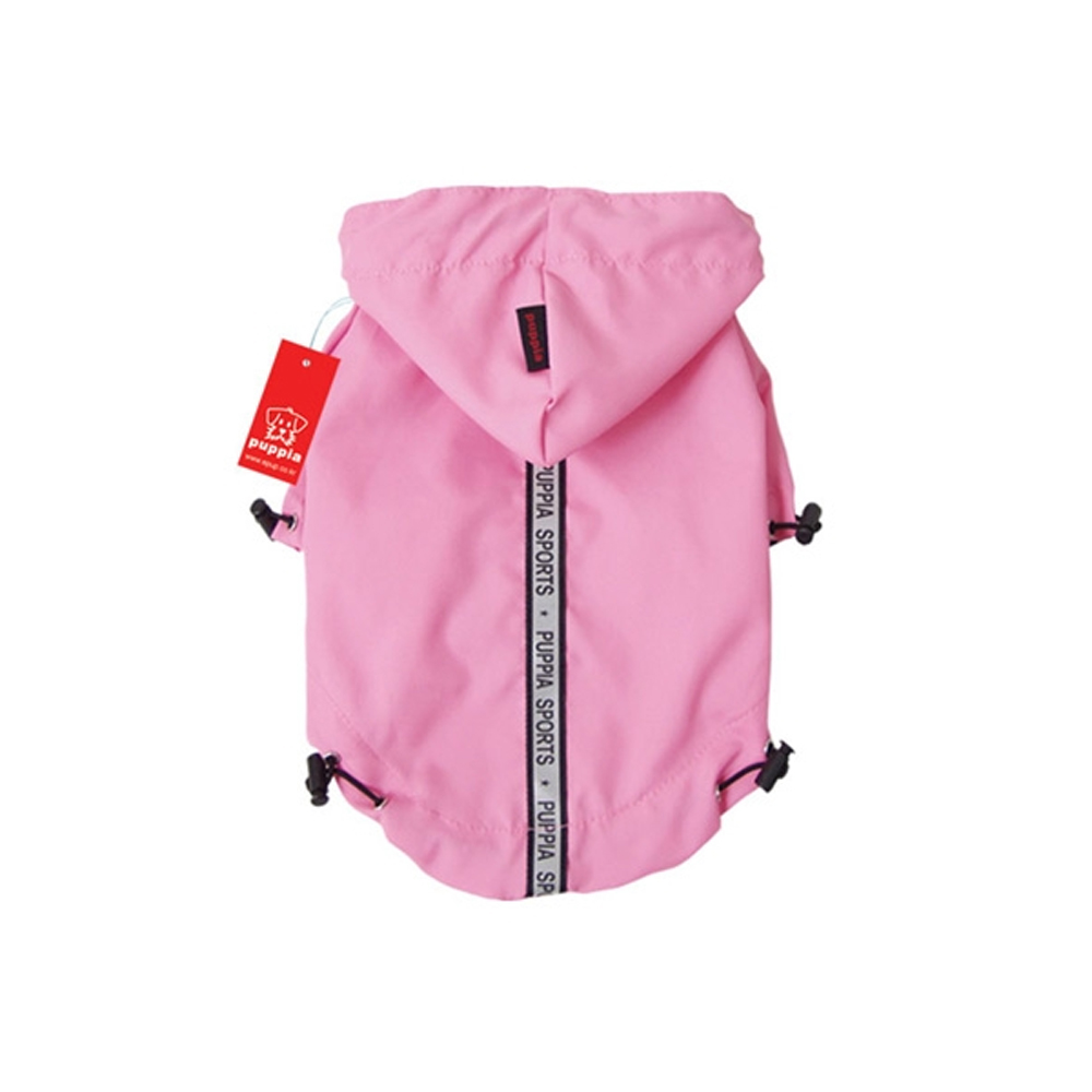 Puppia - Apparel - Base Jumper Raincoat PINK