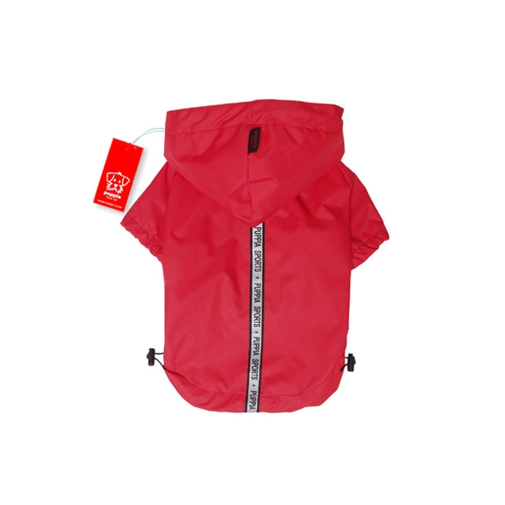 Puppia - Apparel - Base Jumper Raincoat RED
