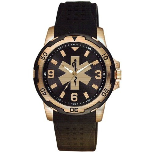 Aquaforce Series 54 - Rose Gold Face, Silicon Band