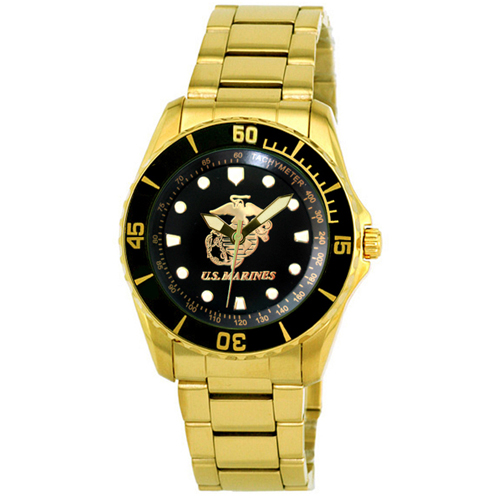 Aquaforce Series 61 - Gold Metal Golden Logo Watch