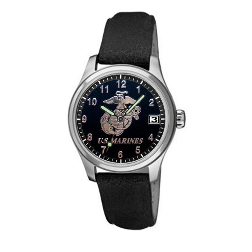 Aquaforce Series 2Q - Leather Strap, Stainless