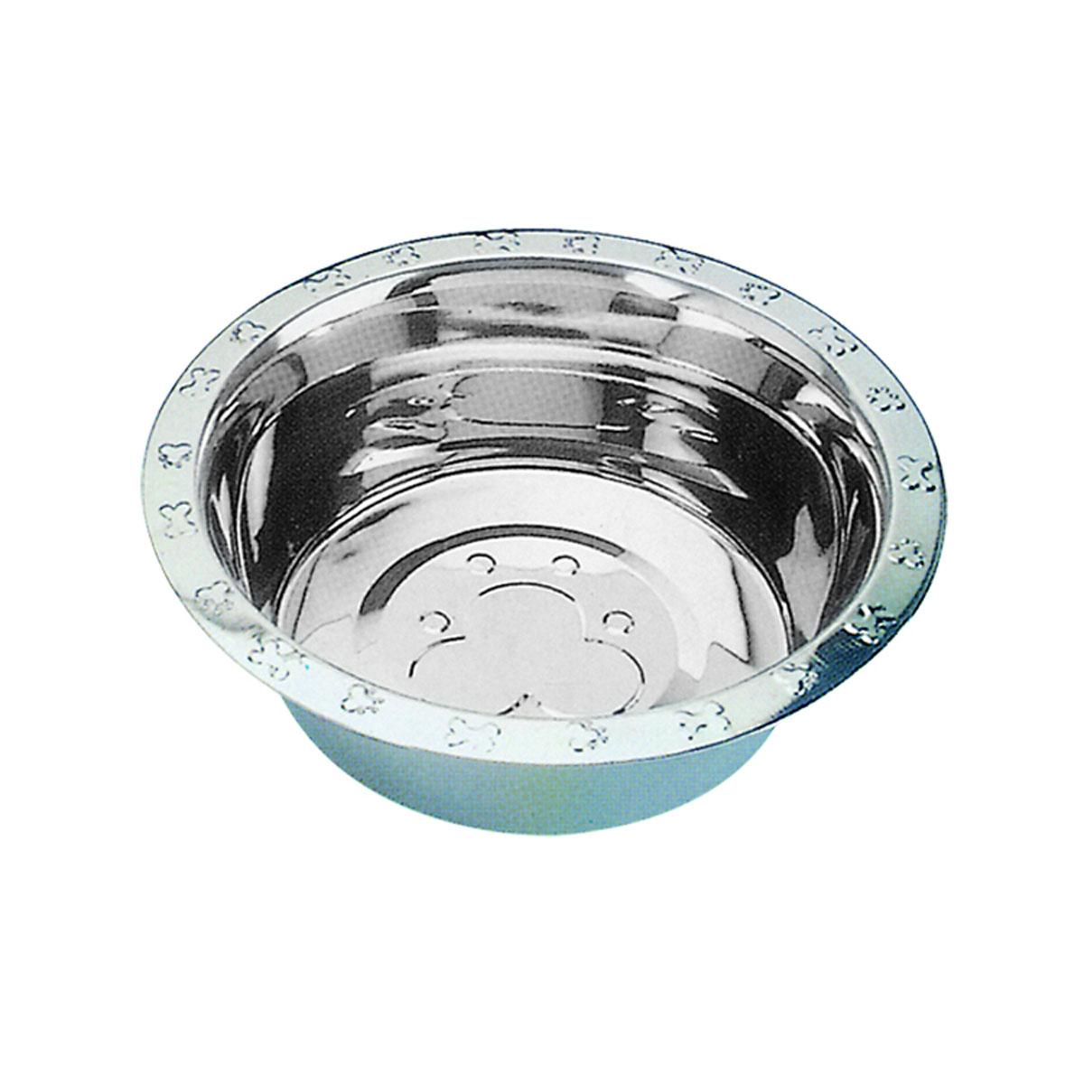 QT Dog - Embossed Rim Standard SS Food Bowl