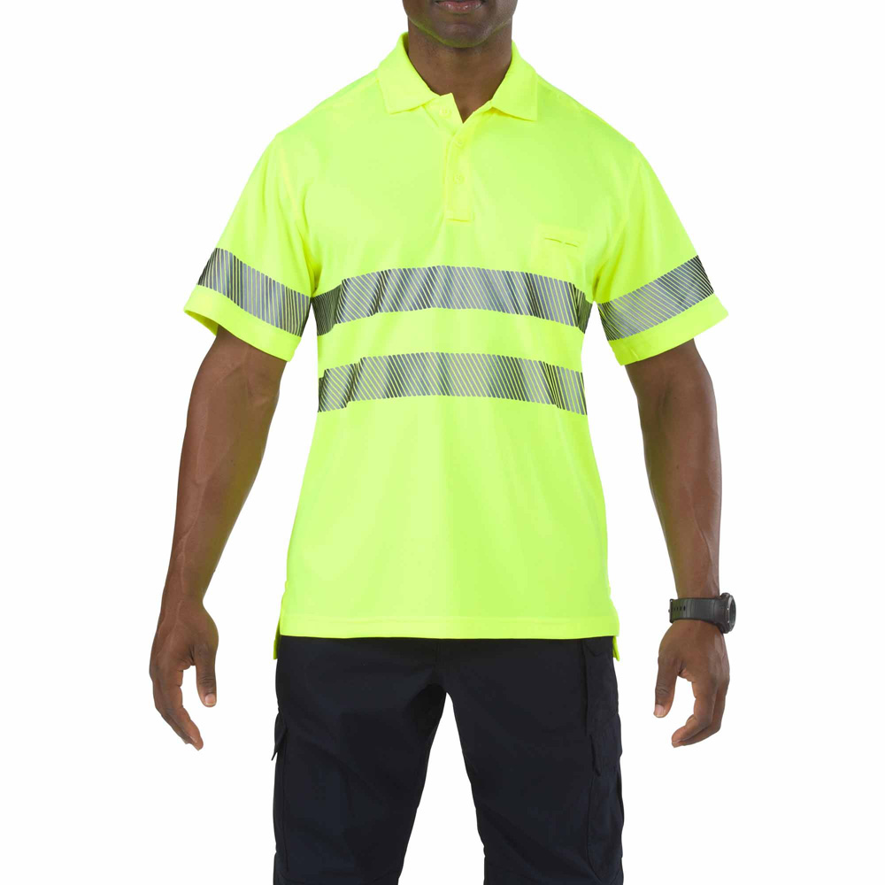 5.11 Mens Hi-Viz Short Sleeve Polo 41007