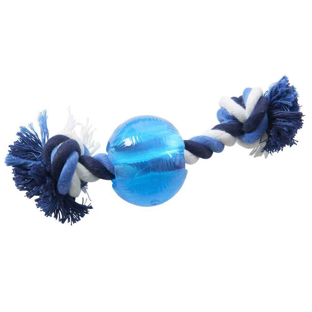 Buster Strong Ball with rope Dog Toy