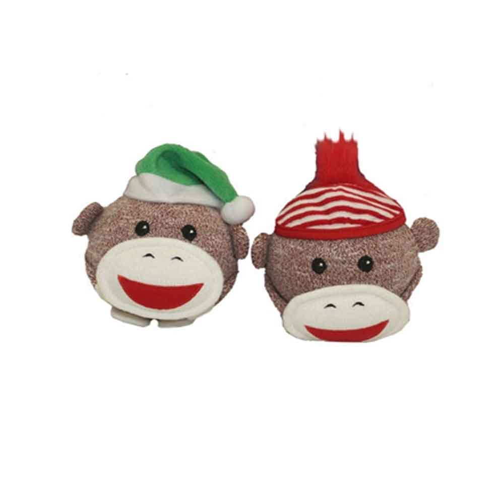 MultiPet - Sock Monkey Holiday Shaker Head