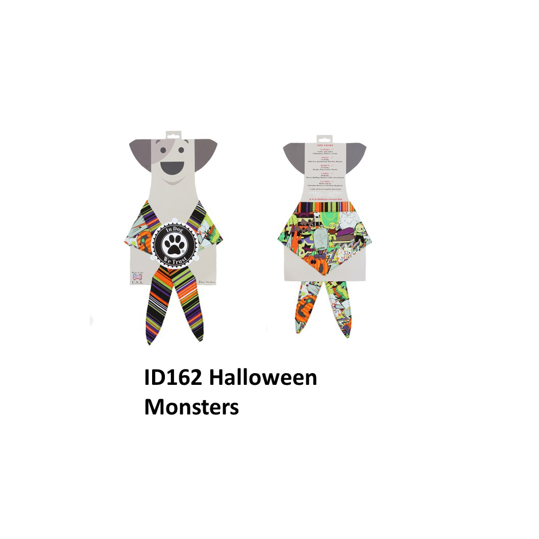 In Dog We Trust - Bandana - Halloween Monsters