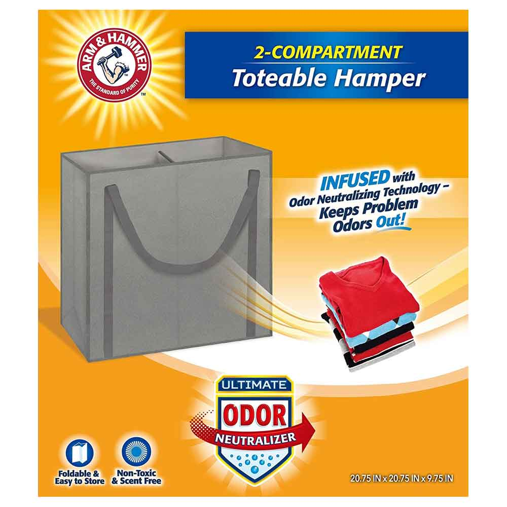 Arm & Hammer 2 Compartment Hamper Tote