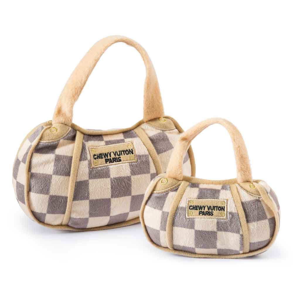 Haute Diggity Dog Checker Chewy Vuiton Purse