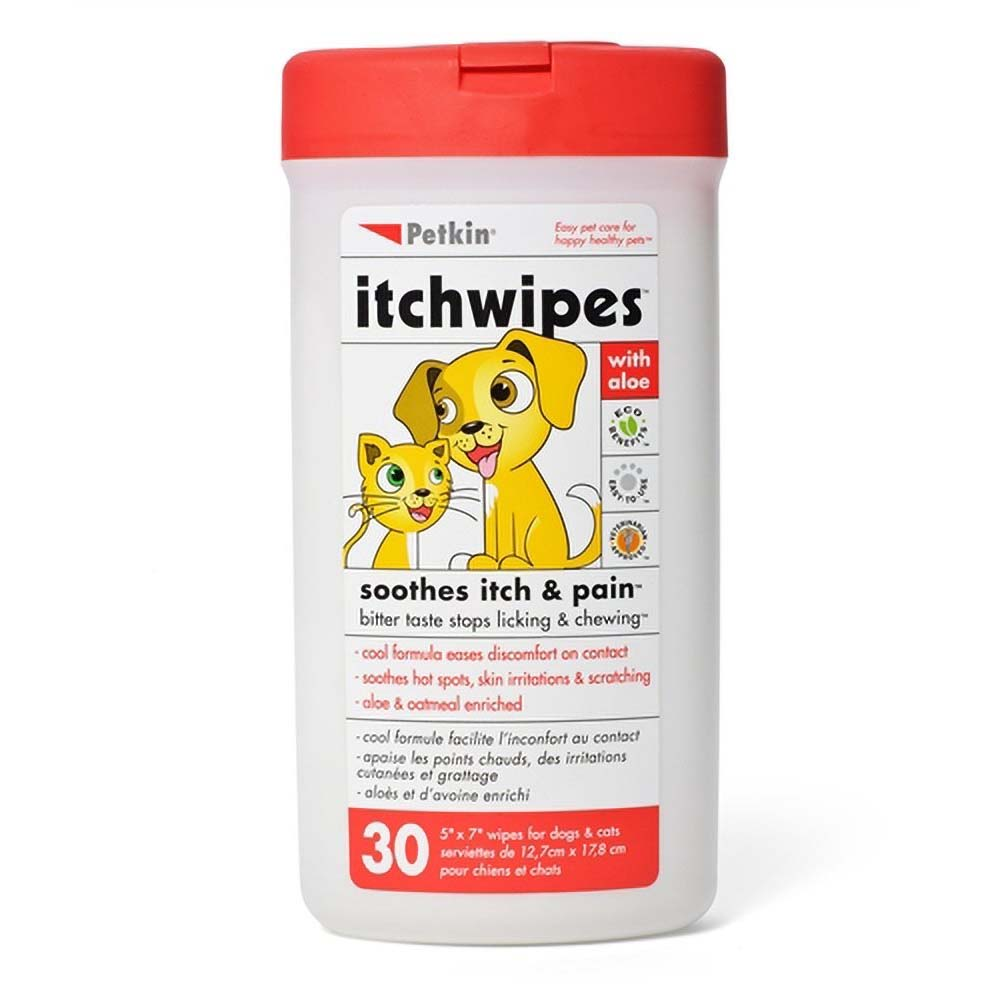 Petkin Itch Wipes