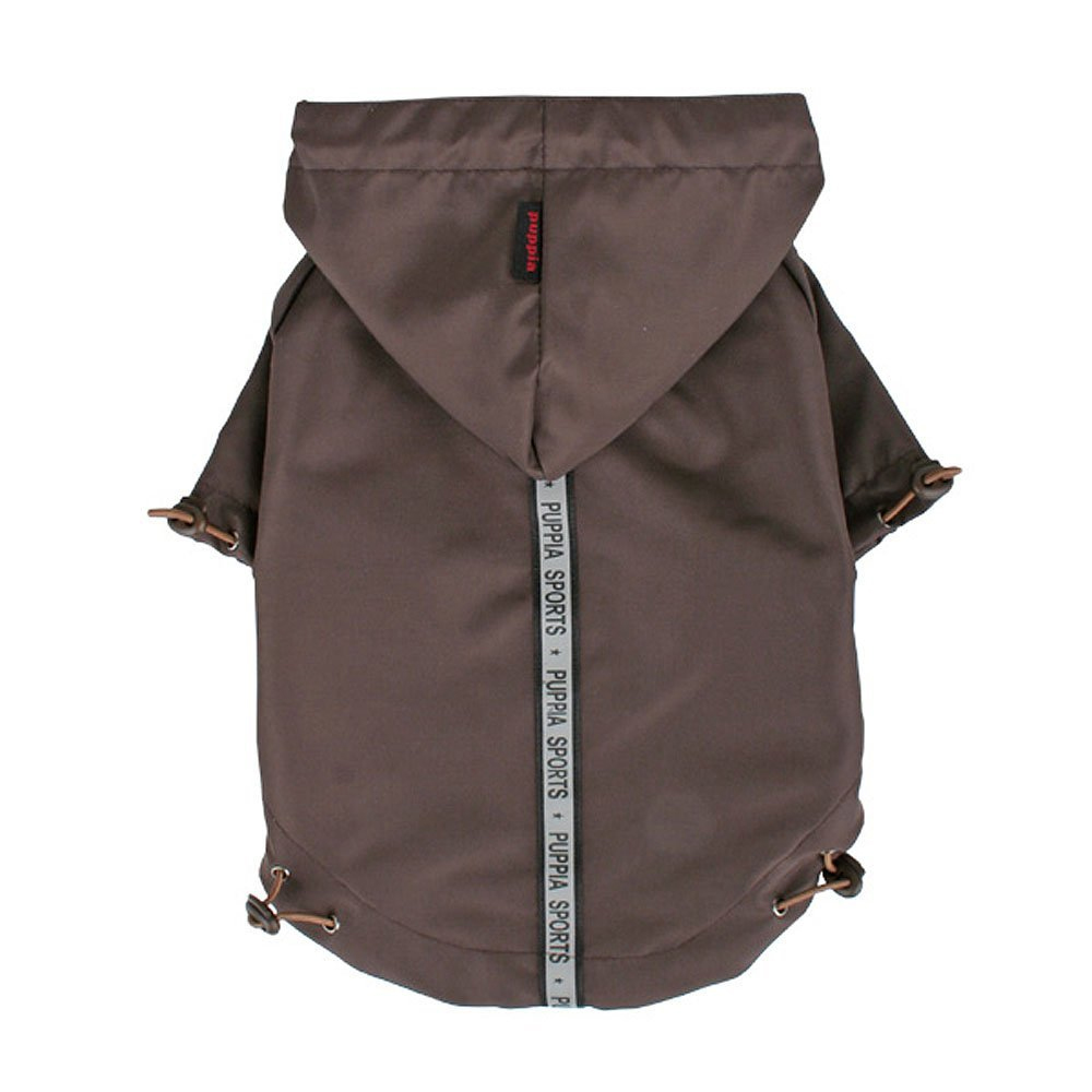 Puppia - Apparel - Base Jumper Raincoat BROWN