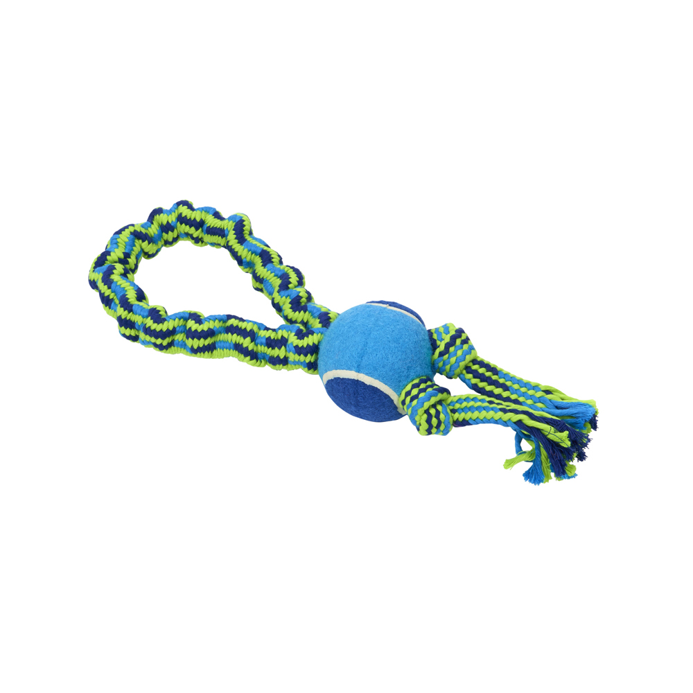 BUSTER Bungee Rope Toy Single Knot Tennis Ball