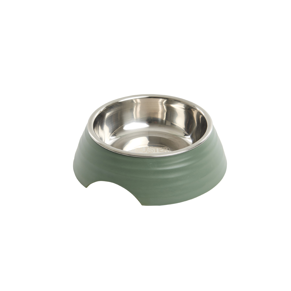 BUSTER Frosted Ripple Dog Bowl Dusty